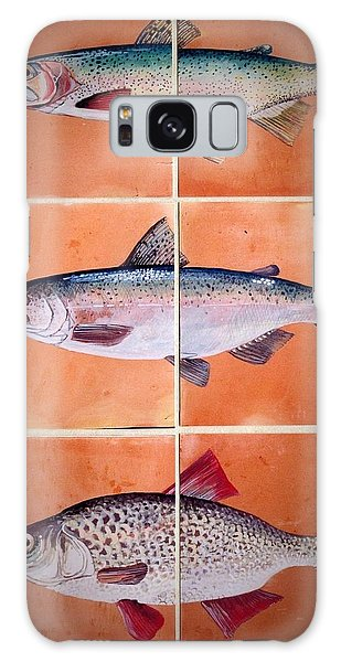 Fish Mural Galaxy Case by Andrew Drozdowicz