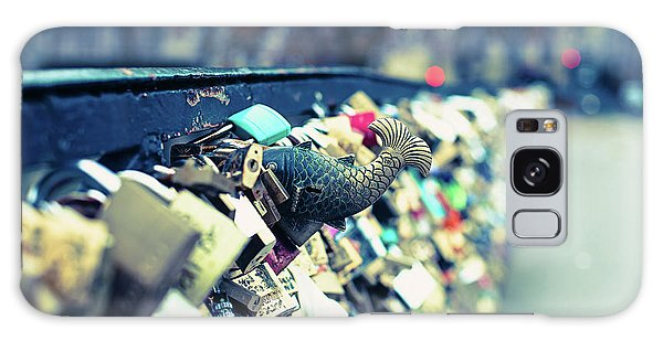 Fish Out Of Water - Pont Des Arts Love Locks - Paris Photography Galaxy Case by Melanie Alexandra Price