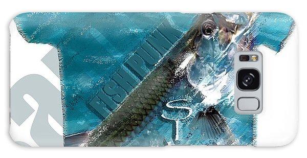 Fish Punk Tarpon Design Galaxy Case