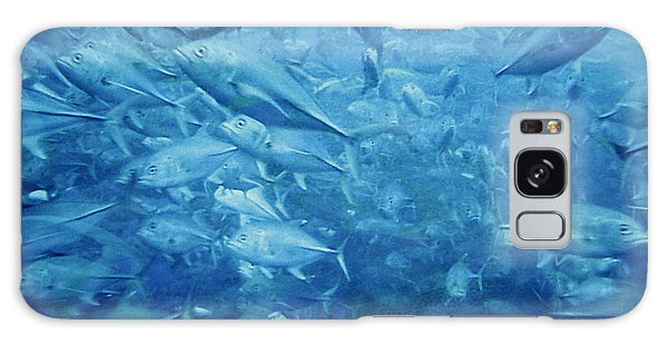 Fish Schooling Harmonious Patterns Throughout The Sea Galaxy Case