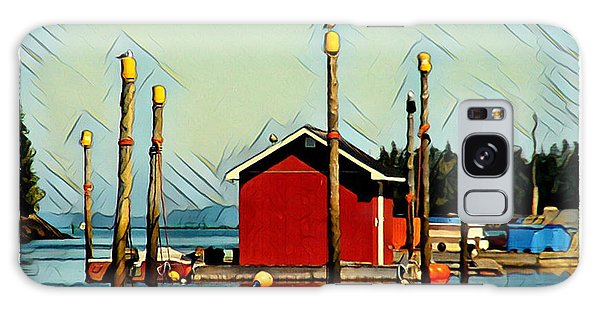 Fish Shack, Campobello Galaxy Case