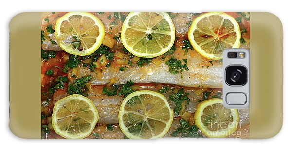 Galaxy Case featuring the photograph Fish With Lemon And Coriander By Kaye Menner by Kaye Menner