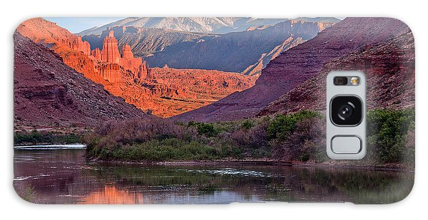 Fisher Towers Sunset Reflection Galaxy Case