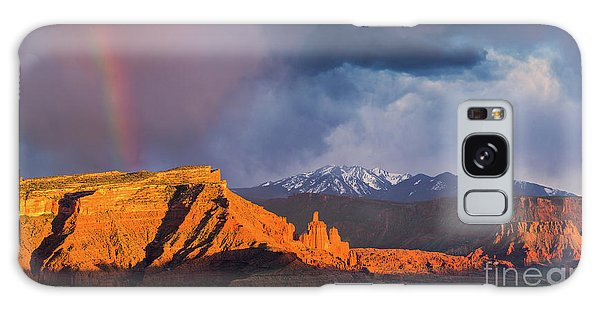 Desert View Tower Galaxy Case - Fisher Towers, Utah by Henk Meijer Photography
