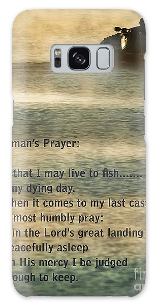 Salmon Galaxy S8 Case - Fisherman's Prayer by Robert Frederick
