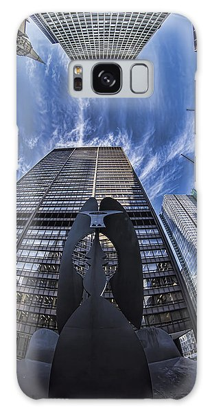 Fisheye View Of Chicago's Picasso Galaxy Case