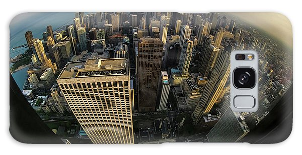 Fisheye View Of Dowtown Chicago From Above  Galaxy Case