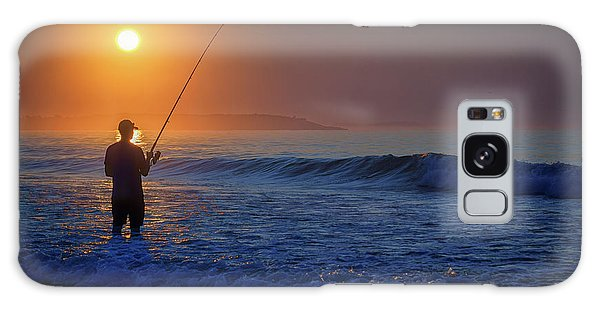 Galaxy Case featuring the photograph Fishing At Sunrise by Rick Berk