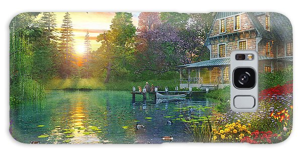 Goose Galaxy Case - Fishing At Sunset by Dominic Davison