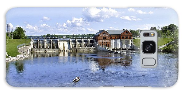 Fishing At The Croton Dam Galaxy Case