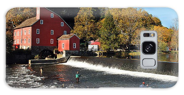 Fishing At The Old Mill Galaxy Case by Lori Tambakis