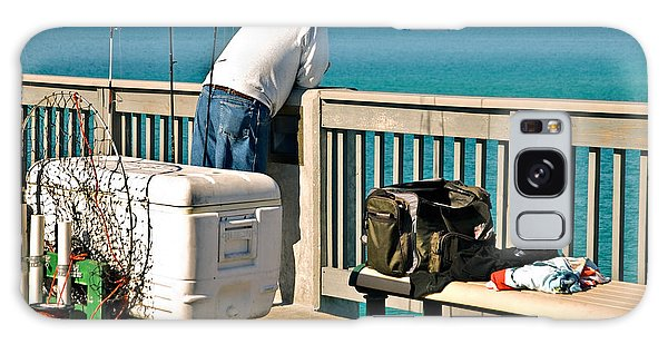 Fishing At The Pier Galaxy Case