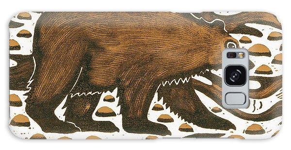 Wild Animals Galaxy Case - Fishing Bear by Nat Morley