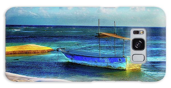 Fishing Boat At Rest Galaxy Case