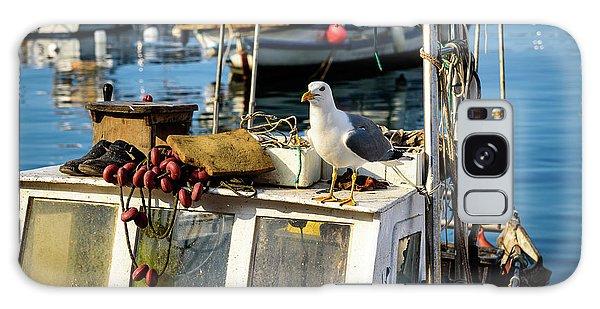 Fishing Boat Captain Seagull - Rovinj, Croatia Galaxy Case