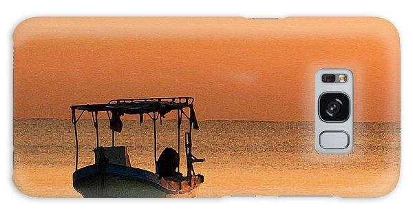 Fishing Boat In Waiting Galaxy Case