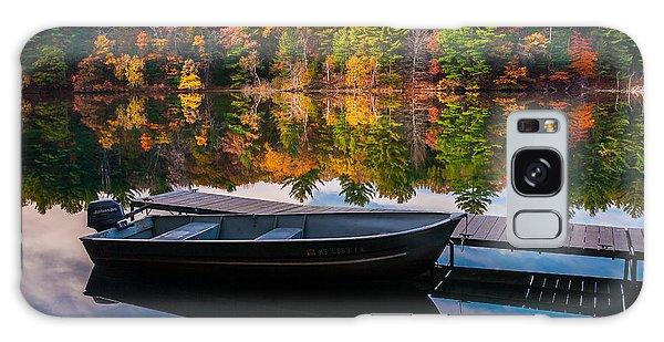 Fishing Boat On Mirror Lake Galaxy Case