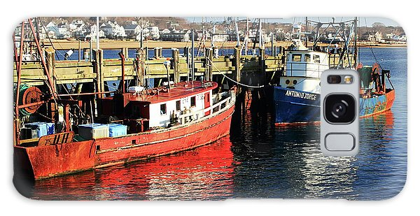 Fishing Boats At Provincetown Wharf Galaxy Case by Roupen  Baker