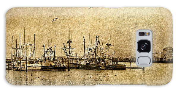 Fishing Boats Columbia River In Sepia Galaxy Case