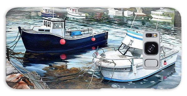 Fishing Boats In Lanes Cove Gloucester Ma Galaxy Case by Eileen Patten Oliver