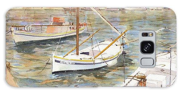 Fishing Boats In Skopelos Galaxy Case by David Gilmore