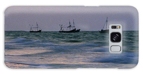 Fishing Boats Galaxy Case by Michael Mogensen