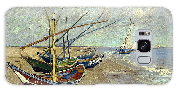 Galaxy Case featuring the painting Fishing Boats On The Beach by Van Gogh