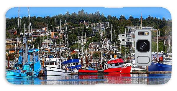 Fishing Fleet At Newport Harbor Galaxy Case by Marty Fancy