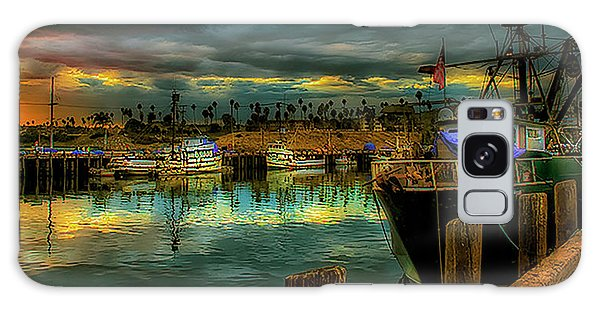 Fishing Harbor At Sunset Galaxy Case