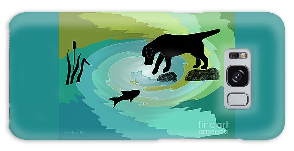 Fishing Labrador Dog Galaxy Case