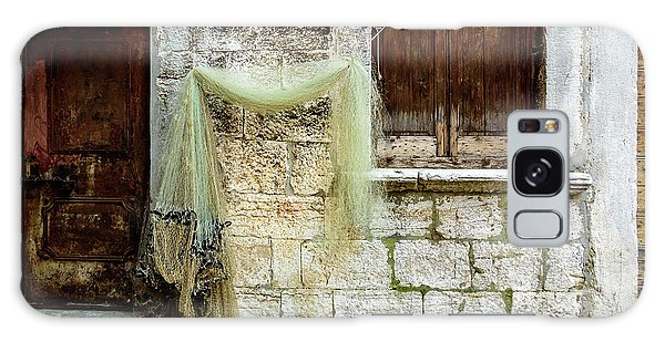 Fishing Net Hanging In The Streets Of Rovinj, Croatia Galaxy Case