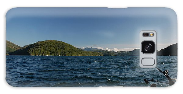 Fishing Off Hisnit Inlet Galaxy Case