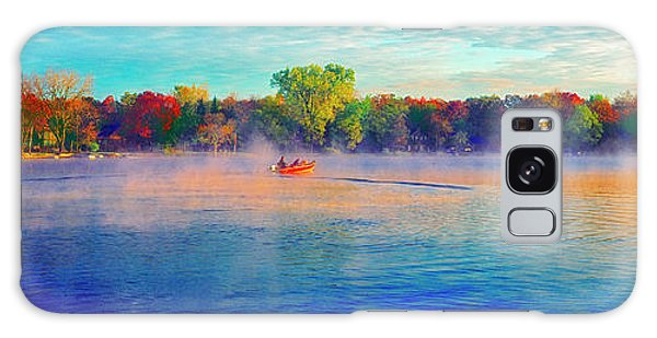 Fishing On Crystal Lake, Il., Sport, Fall Galaxy Case