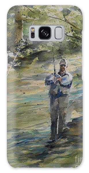 Fishing The Sturgeon Galaxy Case by Sandra Strohschein