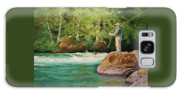 Fishing The Umpqua Galaxy Case by Nancy Jolley