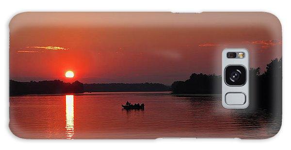Fishing Until Sunset Galaxy Case