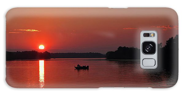 Fishing Until Sunset Galaxy Case