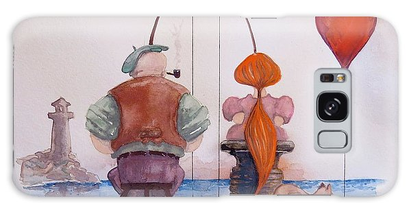 Fishing With Grandpa Galaxy Case by Geni Gorani