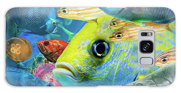 Fishy Collage 02 Galaxy Case