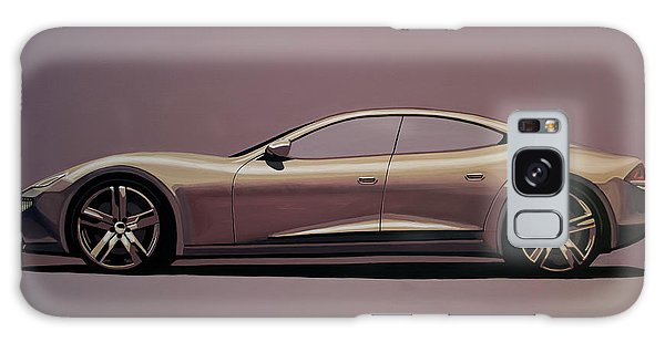 Automobile Galaxy Case - Fisker Karma 2012 Painting by Paul Meijering