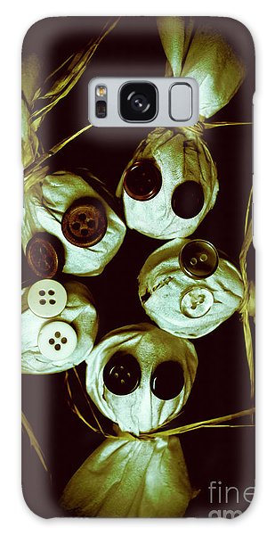 Voodoo Galaxy Case - Five Halloween Dolls With Button Eyes by Jorgo Photography - Wall Art Gallery