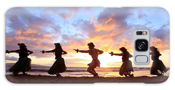 Five Hula Dancers At Sunset Galaxy Case