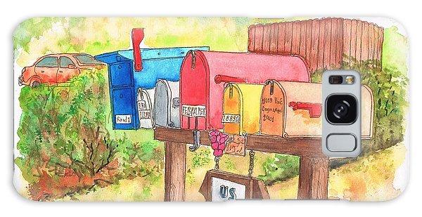 Five Mail Boxes In Route 1, San Simeon, California Galaxy Case