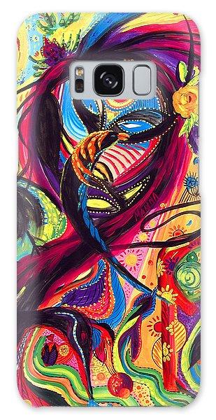 Raven Masquerade Galaxy Case by Marina Petro