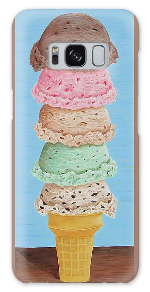 Galaxy Case featuring the painting Five Scoop Ice Cream Cone by Nancy Nale