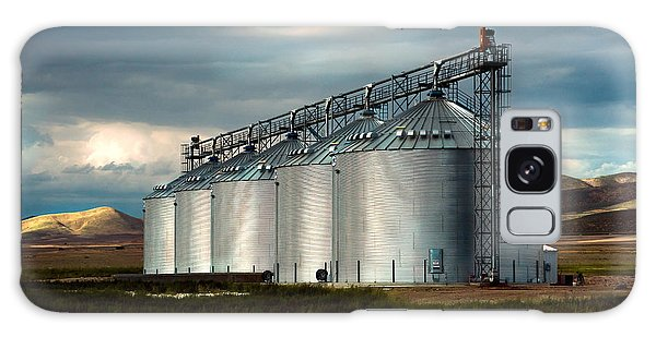 Five Silos On The Plains Of The Texas Panhandle Galaxy Case by MaryJane Armstrong