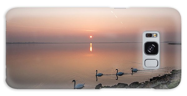 Five Swans At Dawn Galaxy Case by Martina Fagan