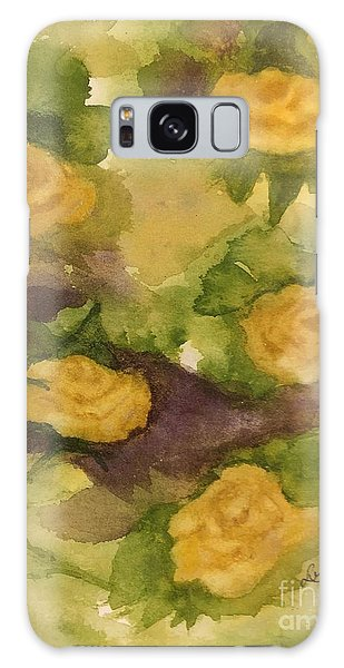 Five Yellow Roses Galaxy Case by Lucia Grilletto