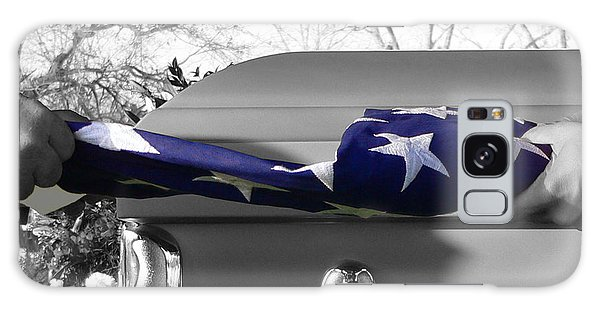 Flag For The Fallen - Selective Color Galaxy Case