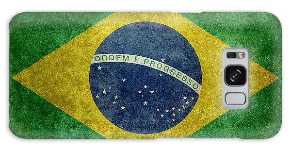 Flag Of Brazil Vintage 18x24 Crop Version Galaxy Case